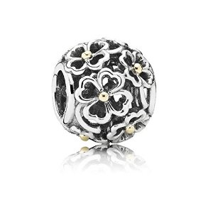 Pandora Silver Clover Leaves Charm