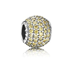 Pandora Silver Gold Coloured Cubic Zirconi Charm