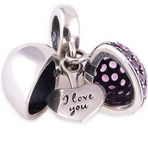 Pandora Silver Heart I Love You Charm