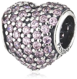 Pandora Silver Heart With Cubic Zirconia Crystals Charm