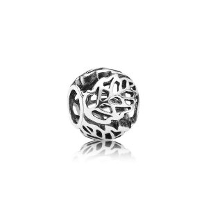 Pandora Silver Leaves Rounded Bead Charm