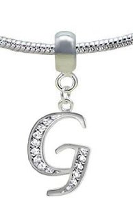 Pandora Silver Letter G CZ Crystals Charm