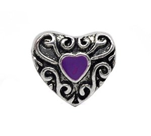 Pandora Silver Purple Love Heart Charm