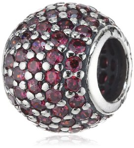 Pandora Silver Red Cubic Zirconias Charm