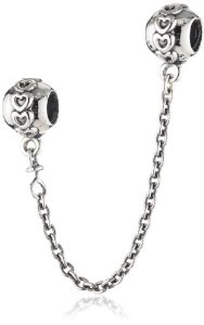 Pandora Small Hearts With Chain Charm