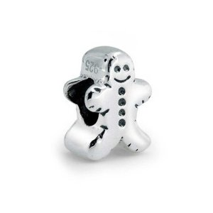 Pandora Smiling Gingerbread Man Charm