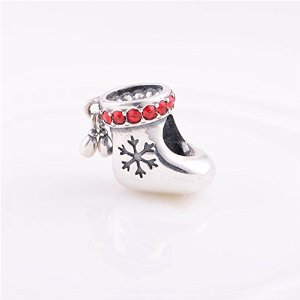 Pandora Snow Boot Red CZ Charm