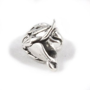 Pandora Solid 3D Rose Bud Charm