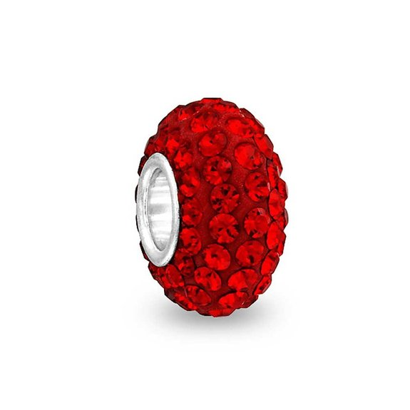 Pandora Solid Ruby Red Pave CZ Charm