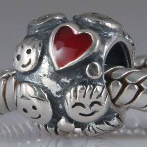 Pandora Solid Silver Family Ties Charm