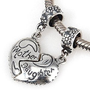 Pandora Solid Silver Mother And Daughter Separable Charm