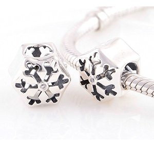 Pandora Solid Snow Flake Clear Crystal Charm