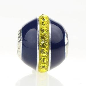 Pandora Sparkling Blue Yellow Crystals Charm