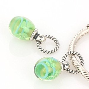 Pandora Speckled Beauty Green Crystal Charm