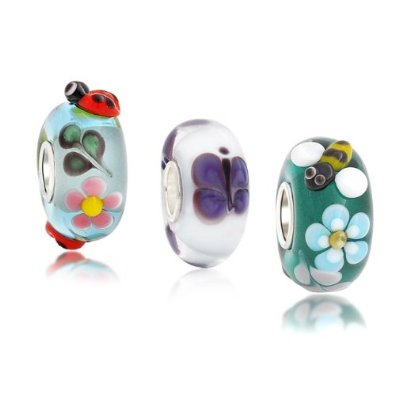 Pandora Spring Flower Murano Glass Set Charm