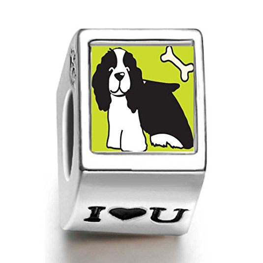 Pandora Springer Spaniel Dog Photo Flower Charm image