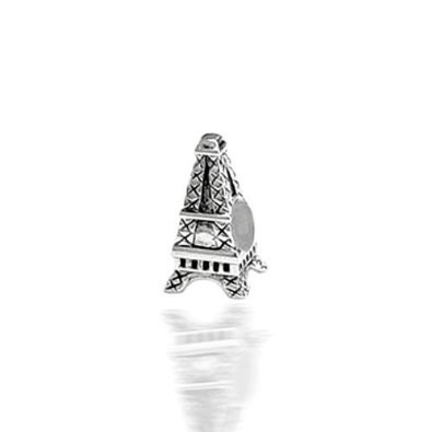Pandora Stamped Eiffel Tower Slide On Sterling Silver Charm image