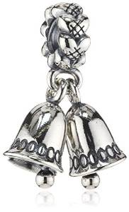 Pandora Stamped Silver Bell Charm