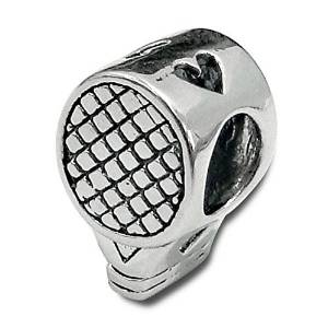 Pandora Stamped Tennis Racket Charm