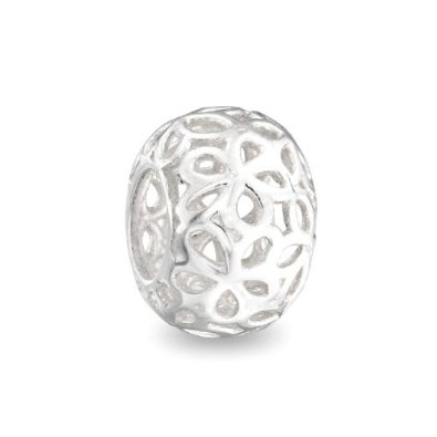 Pandora Sterling Silver Filigree Flower Charm smaller image