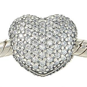 Pandora Sterling Silver Hearts Clip On Charm