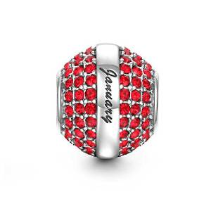 Pandora Swarovski Crystal Dark Red Charm