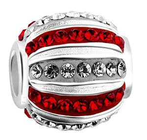 Pandora Swarovski Crystal Red And White Charm