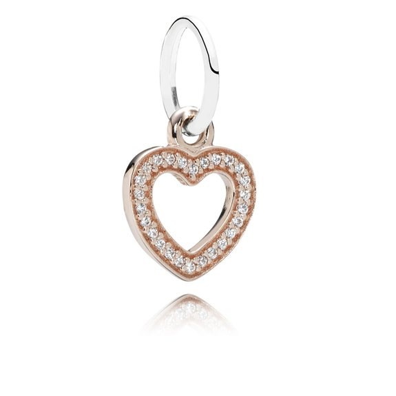 Pandora Symbol Of Love Clear Cz Heart Charm
