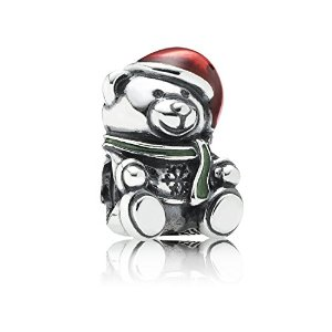 Pandora Teddy Bear Red Enamel Bead Charm