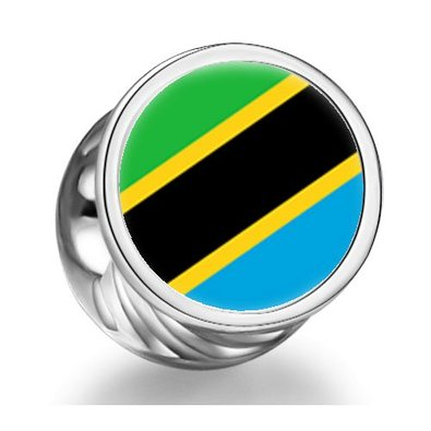 Pandora The United Republic Of Tanzania Flag Photo Charm