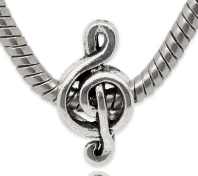 Pandora Treble Clef Music Note Sterling Silver Charm image