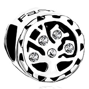 Pandora Tree Life Clear White Crystals Charm