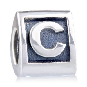 Pandora Triangle Letter C Charm