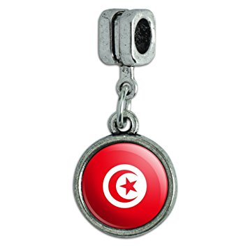 Pandora Tunisia Flag Heart Photo Charm