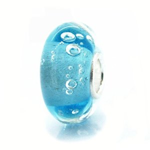 Pandora Turquoise Blue Hawaii Ocean Glass Charm