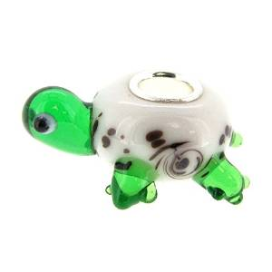 Pandora Turtle Green Glass Charm smaller image