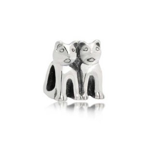Pandora Twin Standing Cats Charm