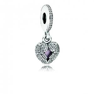 Pandora Two Angel Winged Heart Love Charm image