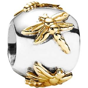 Pandora Two Tone Solid Dragonfly Charm
