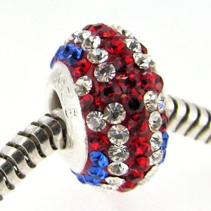 Pandora UK Flag Crystals Charm
