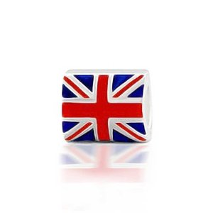 Pandora Union Jack British Flag Holiday Charm