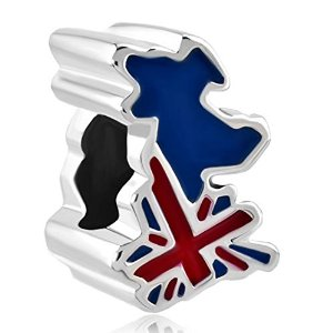 Pandora Union Jack Uk Map Charm