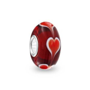 Pandora Valentine Murano Red Heart Glass Charm