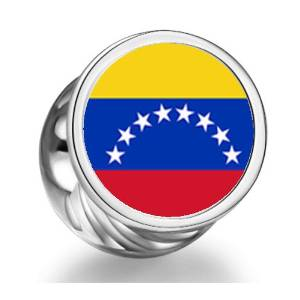 Pandora Venezuela Flag Heart Photo Charm image