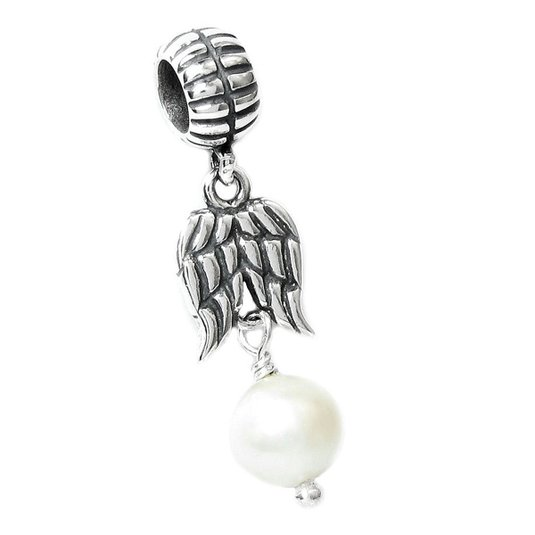 Pandora WHITE FRESHWATER PEARL DANGLE Charm