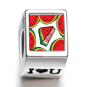 Pandora Watermelon Photo Flower Charm smaller image