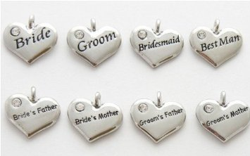 Pandora Wedding Hearts Set Of 8 Charm