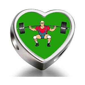 Pandora Weigh Lifting Heart Photo Charm