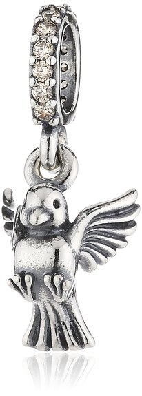 Pandora White Dove Bird Photo Charm