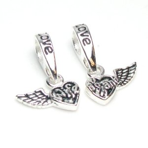 Pandora Wing Wife Husband Love Heart Charm